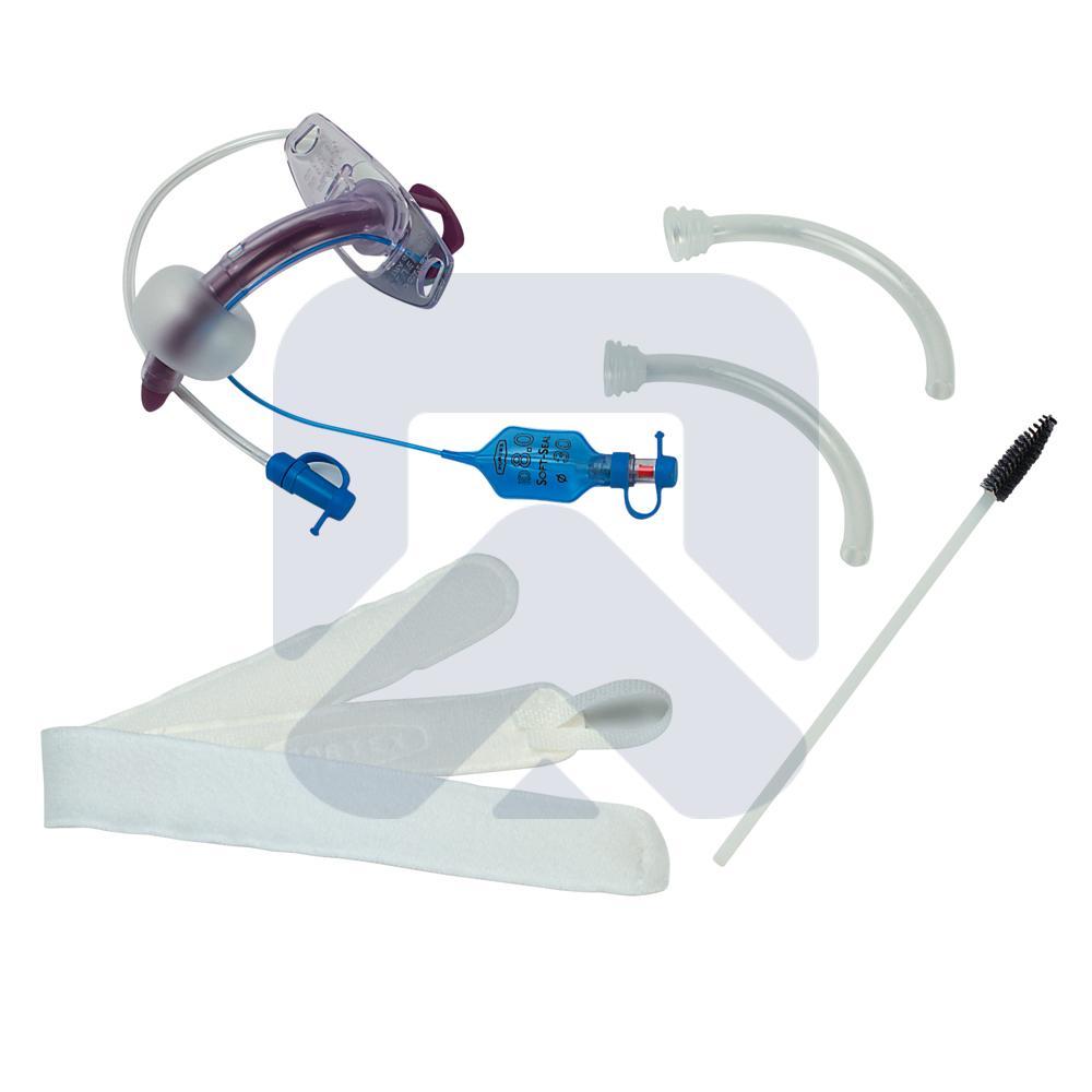 Blue Line Ultra® Suctionaid трахеостомическая трубка с принадлежностями