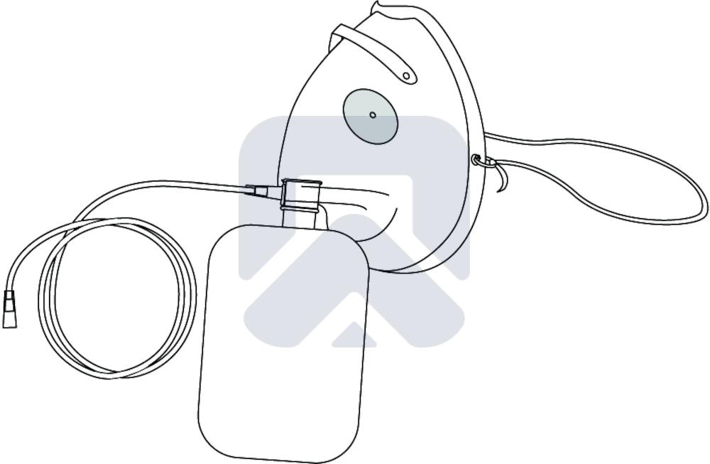 Маска для кислорода в высокой концентрации