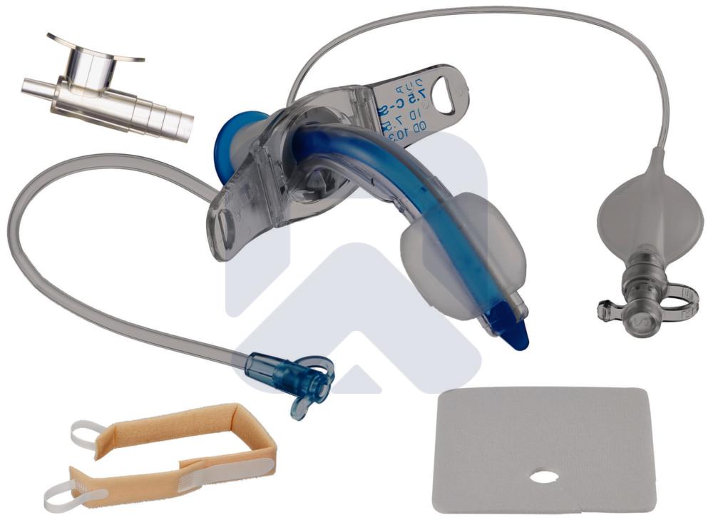Трахеалкит® | трахеостомическая трубка Sofit CLEAR С-S с манжетой и каналом для санации
